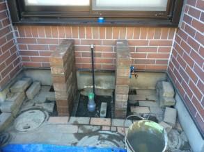 立水栓 作業途中1