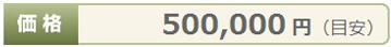 価格¥500,000円(目安)
