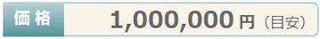 価格¥1,000,000円(目安)